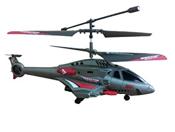 "Odyssey Flying Machines 8"" Shooter Helicopter, Grey"