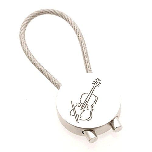 Schlsselanhnger-Geige-aus-Metall-Schnes-Geschenk-fr-Musiker