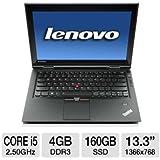 "Lenovo ThinkPad X1 (129127U) 13.3"" LED Notebook - Core i5 i5-2520M 2.50GHz - 4G DDR3 160G SSD (Windows 7 Professional) - Black"