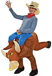 Gemmy Industries Hk Mens The Illusion Bull Rider Adult