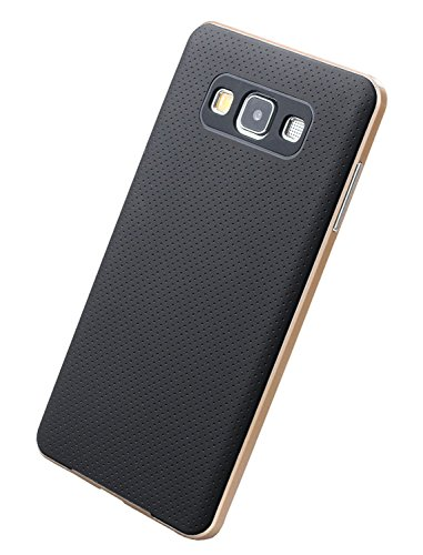 Kapa Hybrid Ultra Thin Shockproof Back + Bumper Case Cover for Samsung Galaxy A7 - Gold