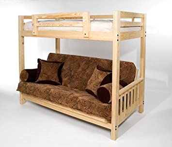 You Want To Buy The Ultimate Space Saver Solid Wood American Made And Sleeps 3 Queen Futon Bunk Bed