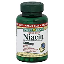 Nature's Bounty Niacin, Flush Free, 500 Mg, Capsules, Value Size, 120 ct.