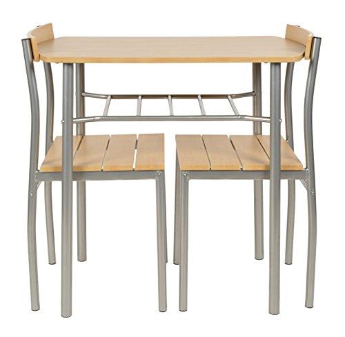 Ts-ideen 3er Set Essgruppe Tisch Stuhl Platzsparend