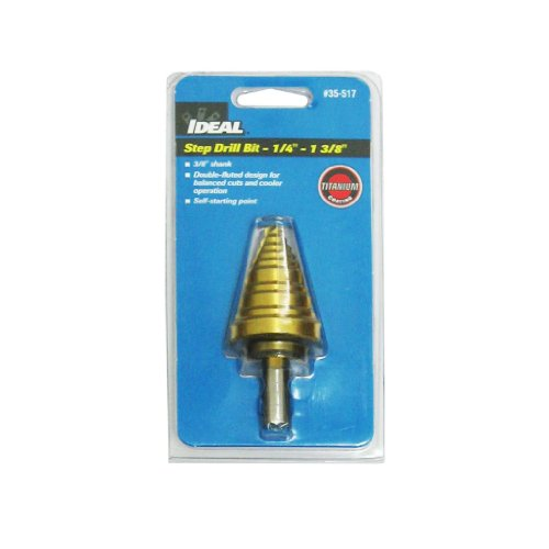 Ideal 35-517 1/4-Inch To 1-3/8-Inch Step Drill
