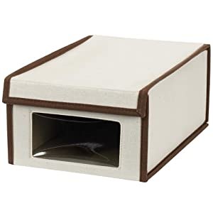 vision canvas shoe storage box small