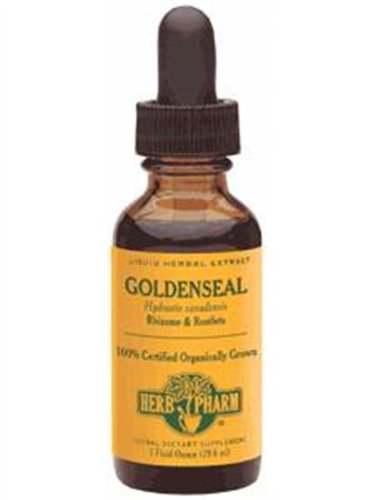Herb Pharm Certified Organic Goldenseal Extract for Respiratory System Support - 4 Ounce