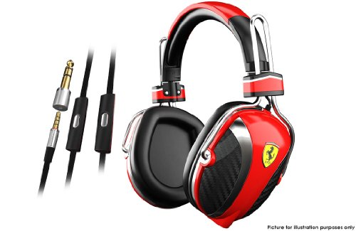 Brand New Ferrari Logic3 P200 Scuderia Ferrari Collection Headphones Mic Remote For Iphone