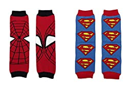 Rush Dance Set of 2 Super Heroes Superman & Spiderman Baby/ Toddler Leg warmers