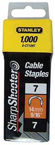 Stanley 1-CT106T 10mm Type-7 Cable Staples (1000 Pieces)
