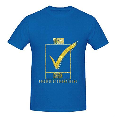 Yo Gotti Check Soul Mens O Neck Cotton Shirts Blue