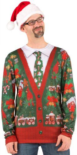 Ugly Xmas Cardigan Sweater Christmas Costume Medium