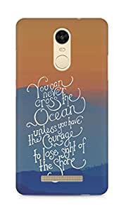 AMEZ you can never cross the Ocean Back Cover For Xiaomi Redmi Note 3