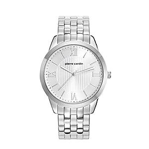 Pierre Cardin Men's Steel Bracelet & Case Quartz Silver-Tone Dial Analog Watch PC107891F05