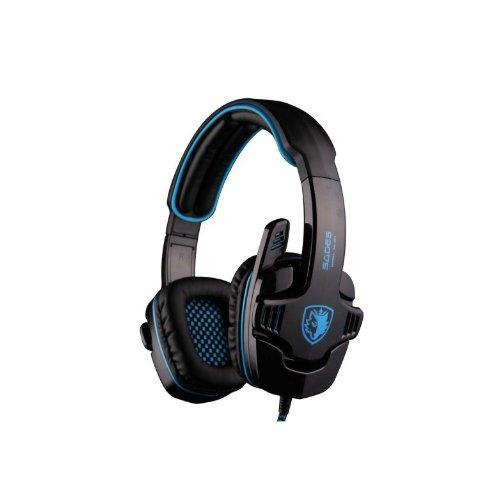 Zps Sades Sa-901 Stereo 7.1 Surround Pro Gaming Headset Headband Headphone Microphone(Multicolor) (Blue)