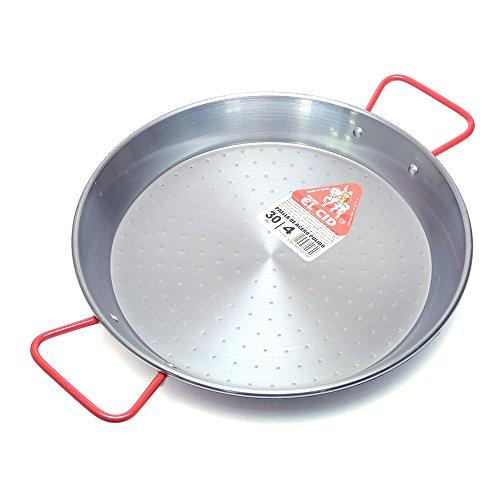 EL CID スペイン製 パエリア鍋 赤いハンドル プロ用 パエリアパン レシピ 付き パエージャ 30cm 4人用