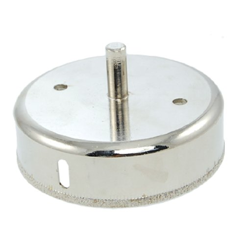 100Mm Diamond Tipped Metal Drill Bit Hole Saw Silver Tone For Glass