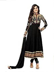 Style Amaze Georgette Black Dress Material