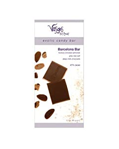 Vosges Barcelona Chocolate Bar, 3-Ounce Bars (Pack of 4)