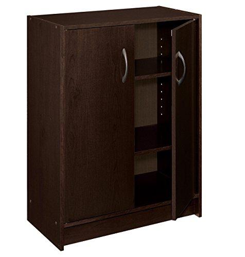 Closetmaid 8925 2 Door Stackable Laminate Organizer Espresso 089066089259 Toolfanatic Com