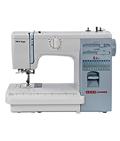 Usha Janome Stitch Magic Sewing Machine   White available at Amazon for Rs.17500
