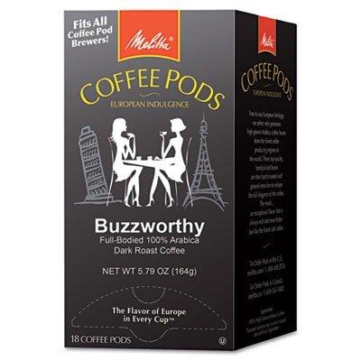 Melitta One:One Dark Roast Coffee Pods, Buzzworthy, 18 Pods/box