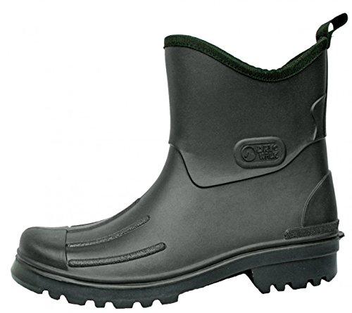 BOCKSTIEGEL - Peter - Herren Gummmistiefeletten PVC Stiefel - Schwarz Schuhe in Übergrößen, Größe:43