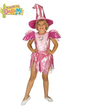 Magical Doremi Dorie Pink Witch Costume Sz Small 4-6 - 1