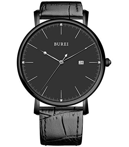 bureir-unisex-ultra-thin-elegant-date-quartz-watch-with-black-calfskin-leather-band-black-dial
