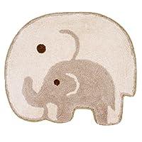 親子ゾウ マット ナチュラル 40×50cm