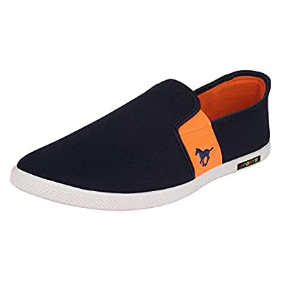 SCATCHITE Blue & Orange Loafers & Moccasins