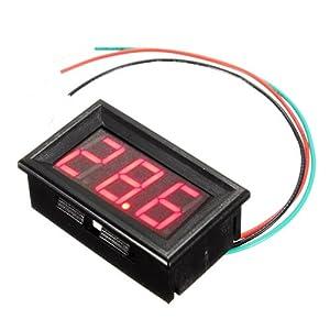 mini digital panel meter voltmeter spannungsanzeige messer 0v 99 9v rot led baumarkt. Black Bedroom Furniture Sets. Home Design Ideas