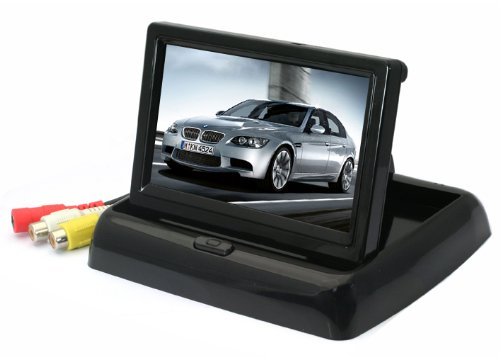 """4.3"""" Tft Lcd Car Vehicle Foldable Rearview Color Camera Backup Monitor Reversing front-387501"""