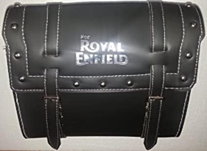 Best-Quality-Brand-New-Black-Saddle-Bag-with-Fancy-Button-(Water-Proof)/-Square-Saddle-Bag-/-ROYAL-ENFIELD-Tool-Bag-/-Side-Saddle-Bag-for-Royal-Enfield-Bullet-Electra-Twinspark