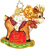 Christopher Radko Christmas Ornament Rock-A-Bye Bear