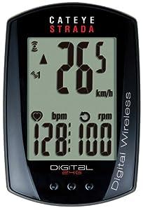 CatEye Strada Digital Wireless Bicycle Computer w Speed Cadence Heart Rate -... by CATEYE