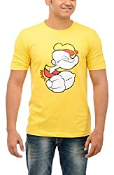 Shop Your Style Men's Cotton T-Shirt (ZYN00B6_M, Yellow, Medium)
