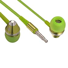 buy On.Earz Lolli.Budz In Ear Headphones With Remote And Microphone For Iphone Green