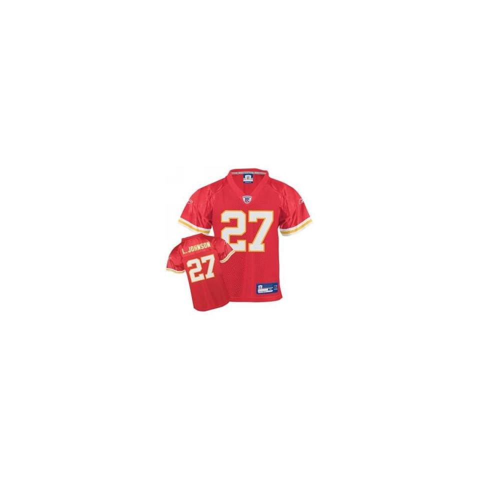 Larry Johnson #27 Kansas City Chiefs NFL CHILD Replica Player Jersey (Size 5 6)