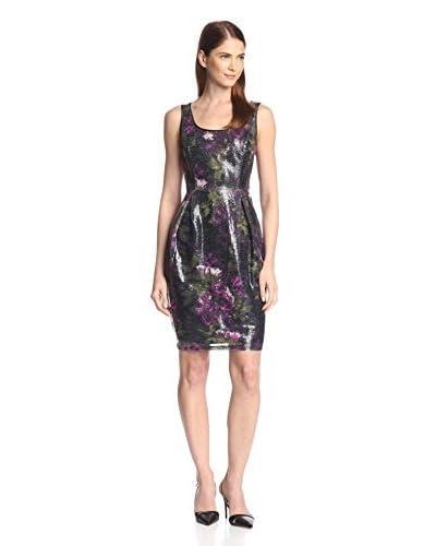 Donna Ricco Women's Printed Sequin Dress