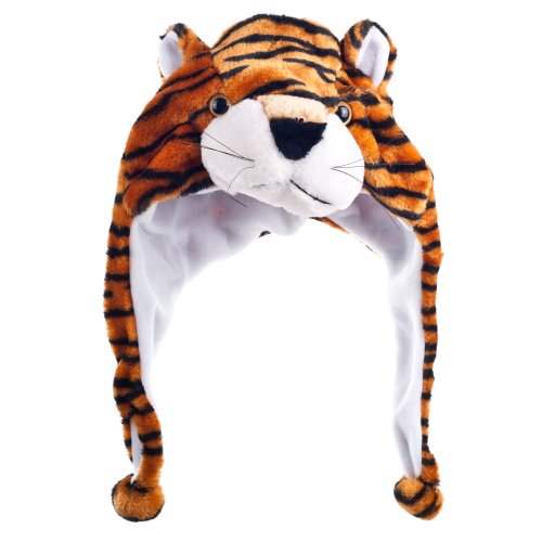 Critter Cap Plush Tiger Hat - 1