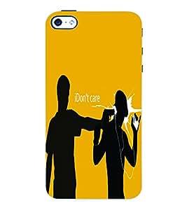 Fuson 3D Printed Attitude Designer Back Case Cover for Apple iPhone 4S - D615