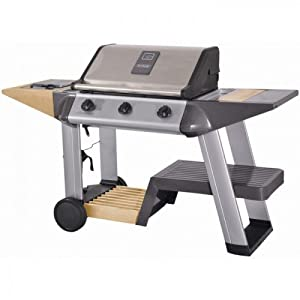 Outback Stainless Steel Excelsior 3 Burner Hooded Gas Barbecue