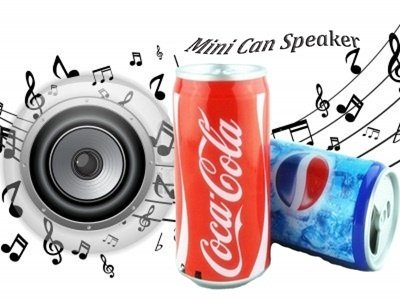 PANSIM Mp3 Player With Fm Radio Music Speaker Coke Can