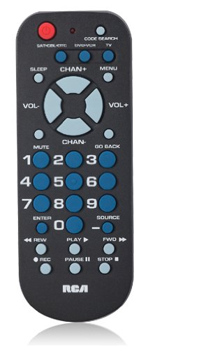 RCA RCR503BR 3-Device Palm-Sized Universal Remote (Universal Remote Codes compare prices)