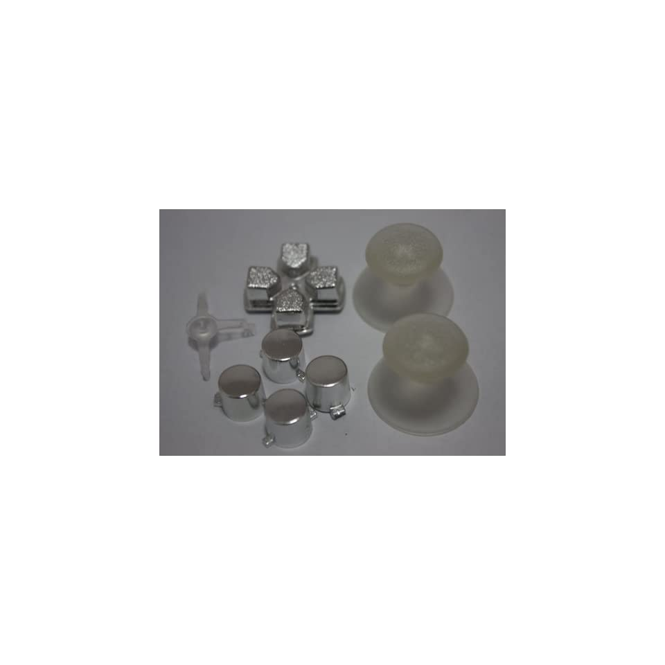 2sets/lot, Chrome silver PS3 Controller Mod Kit   Buttons