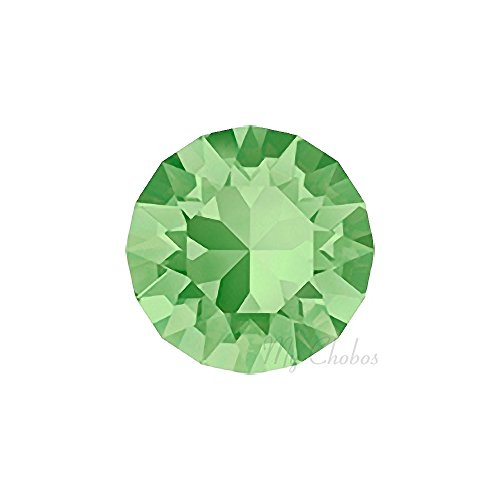 PERIDOT (214) green Swarovski 1088 XIRIUS Chaton Round Stones pointed back rhinestones ss39 (8.16 - 8.41 mm) 18 pcs (1/8 gross) *FREE Shipping from Mychobos (Crystal-Wholesale)*
