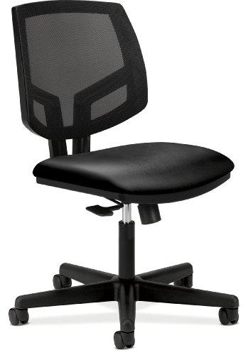 hon volt mesh back task chair for office or computer desk black softhread leather hsdfkjxgk. Black Bedroom Furniture Sets. Home Design Ideas