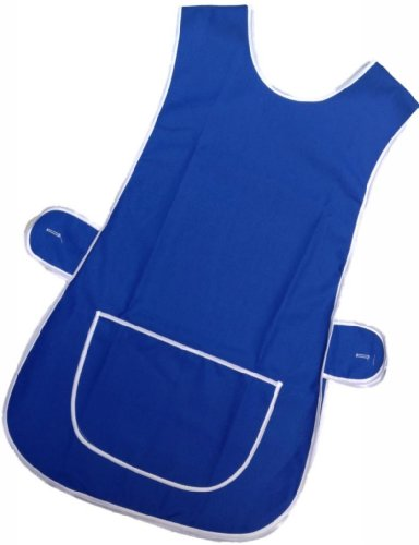 Ladies Cotton/Polyester Tabards, in plain colours trimmed with white trim except Black which does not have trim. Large pockets, side button fastening, Machine washable, choice of 7 colours and 6 sizes from 36/38 to 56/58 inches. Only Ã'£5.99 + P&P (Royal Blue, Wms 36/38 inches (approx)) by Bags-n-Aprons