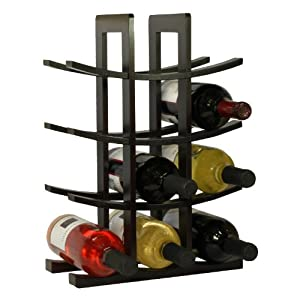 Oceanstar WR1132 12-Bottle Dark Espresso Bamboo Wine Rack, 2-Pack by Oceanstar